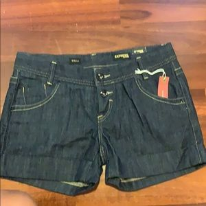 Express Stella dark blue jean shorts. Size 6 & 8